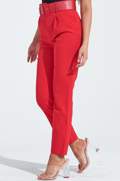 Red Pants, Pants, Pants with Belt, Pocket Pants, Bottoms, Capri Pants, Dressy Pants, Classic Pants, Vintage Pants