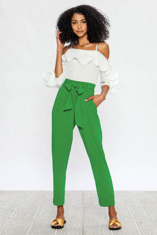 Pants, Wide Leg Pants, Pants with Belt, Pocket Pants, Bottoms, Green Pants, Vintage Pants, Blogger Style, Trendy, Lookbook