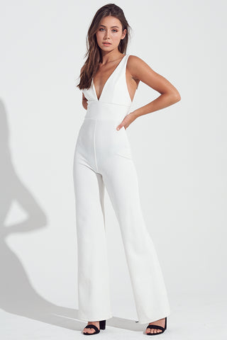 White Jumpsuit, Fitted Jumpsuit, Dressy Jumpsuit, All White Jumpsuit, Jumpsuit, Fashion, Trendy Outfit, Blogger Outfit, Casual Wear, Fall Outfit, Winter Outfit, Fashion Style