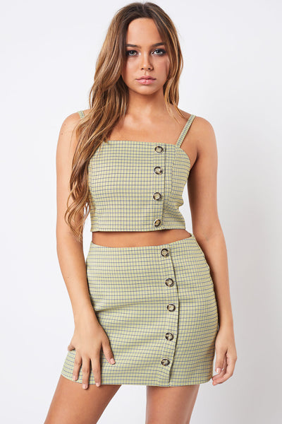 High Waisted Skirt and Crop Top, Sets, Party Outfit, Summer Outfit, Spring Outfit, Vacation Outfit, Spaghetti Top, Sunny Day Outfit, Beach Outfit, Sun Dress, Festival Outfit, Set, Lime Green, Pastels
