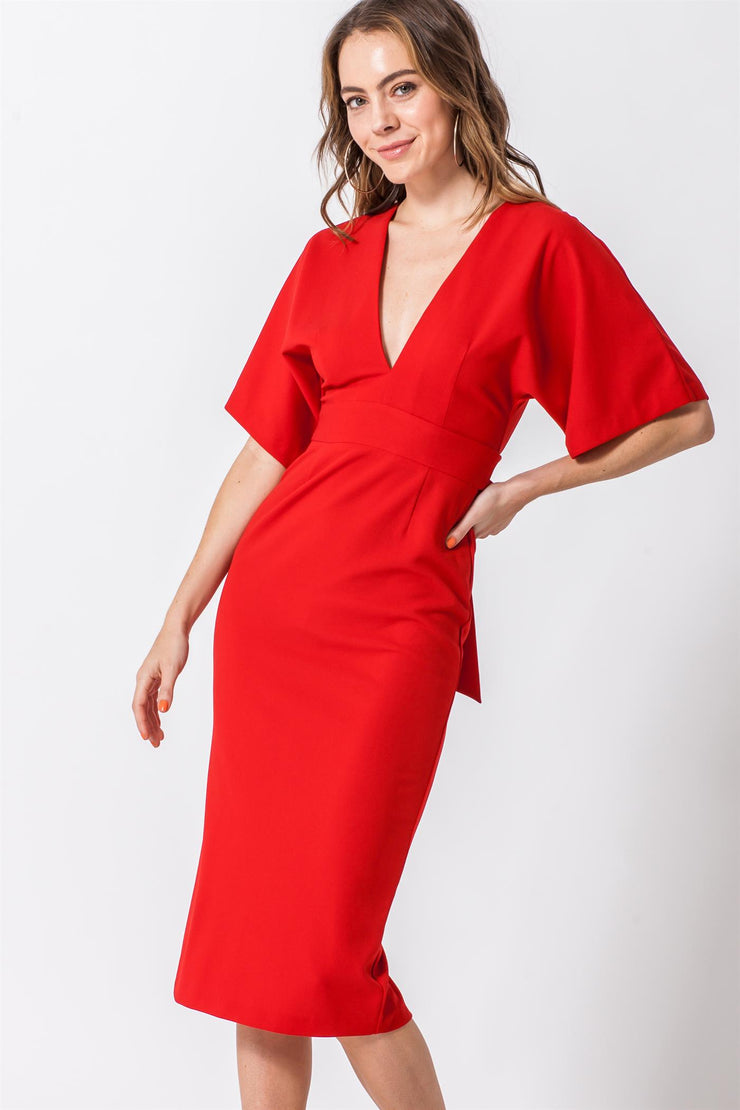 Backless Dress, V Neck Dress, Low Cut Dress, Midi Dress, Bodycon Dress, Dressy, Dress, Side Slit, Party Dress, Wedding Outfit, Party Outfit, Sun Dress, Club Wear, Dinner Outfit, Casual, Beach Wear, Vacation Outfit, Mini Dress, Fashionable Dress, Business Dress, Corporate Dress, Formal Wear, Formal Dress, Work Dress