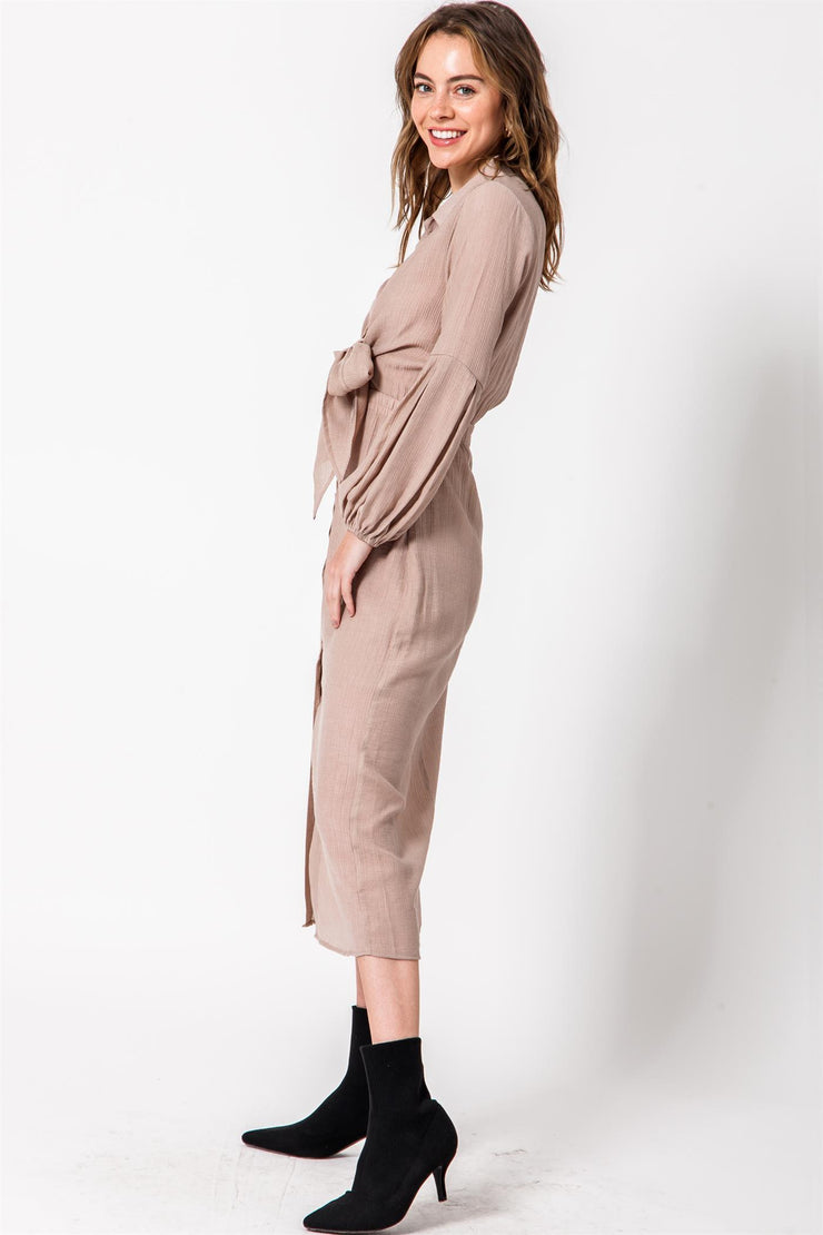 Solid Dress, Midi Dress, Knotted Dress, Botton down Dress, Long Sleeve Dress, Bodycon Dress, Dressy, Dress, Side Slit, Party Dress, Wedding Outfit, Party Outfit, Sun Dress, Club Wear, Dinner Outfit, Casual, Beach Wear, Vacation Outfit, Mini Dress, Fashionable Dress, Business Dress, Corporate Dress, Formal Wear, Formal Dress, Work Dress