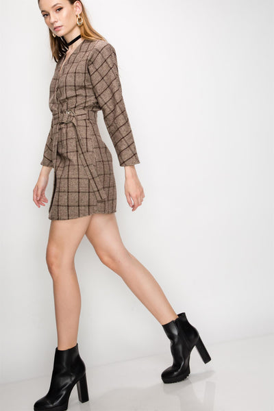 Mini Dress, Plaid, Plaid Dress, Party Dress, Cocktail Dress, Club Dress, Summer Dress, Dressy Top, Low Cut Dress, Long Dress Dress, All White Outfit, Semi Formal, Trendy, Fashionable, Blogger Style Outfit