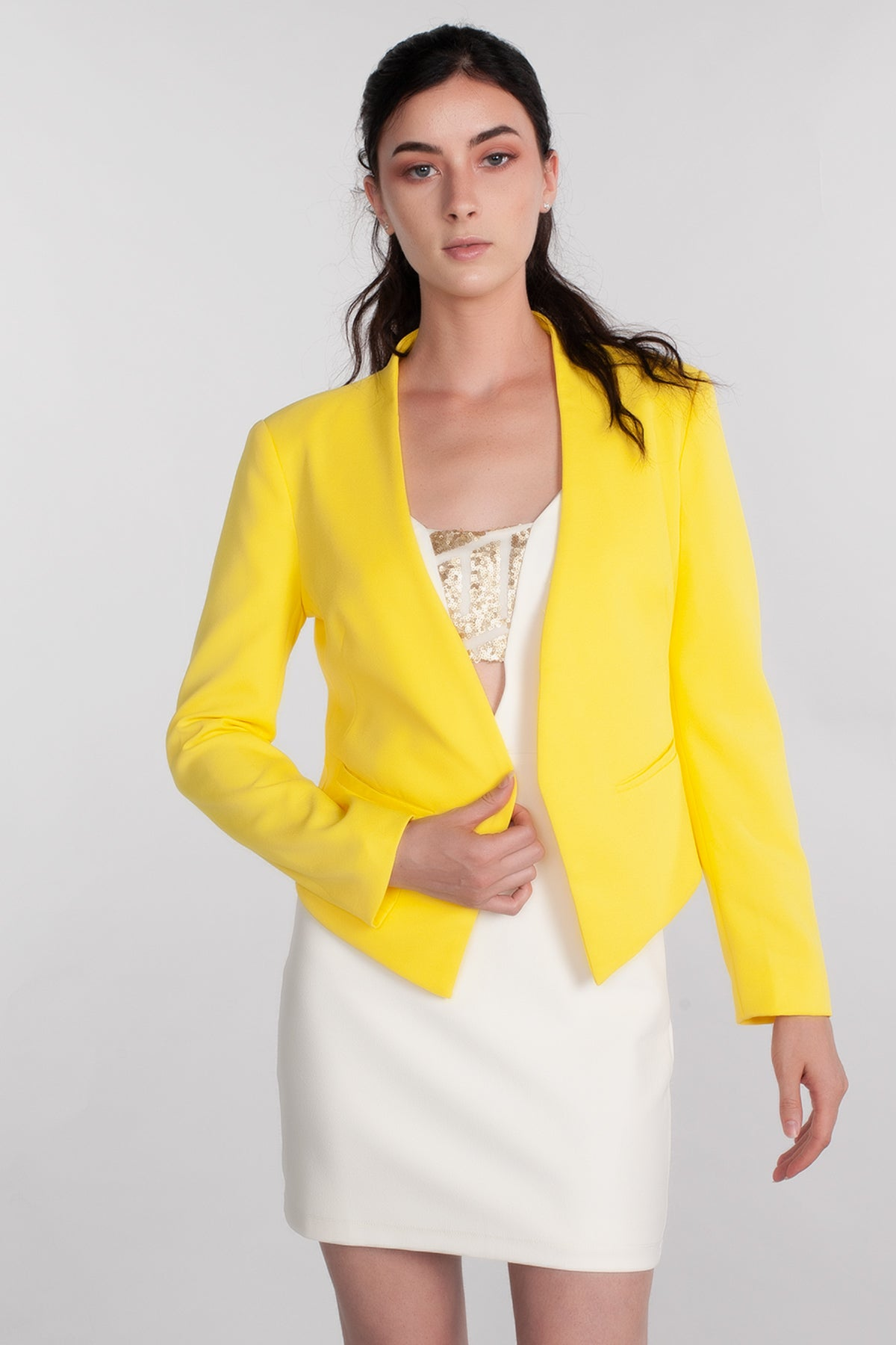 Blazer, Cape, Cardigan, Sweater, Jacket, Cut Off Top, Outer Wear, Winter, Summer Outfit, Yellow Outfit, Cover Up, Pastels, Spring, Casual Wear