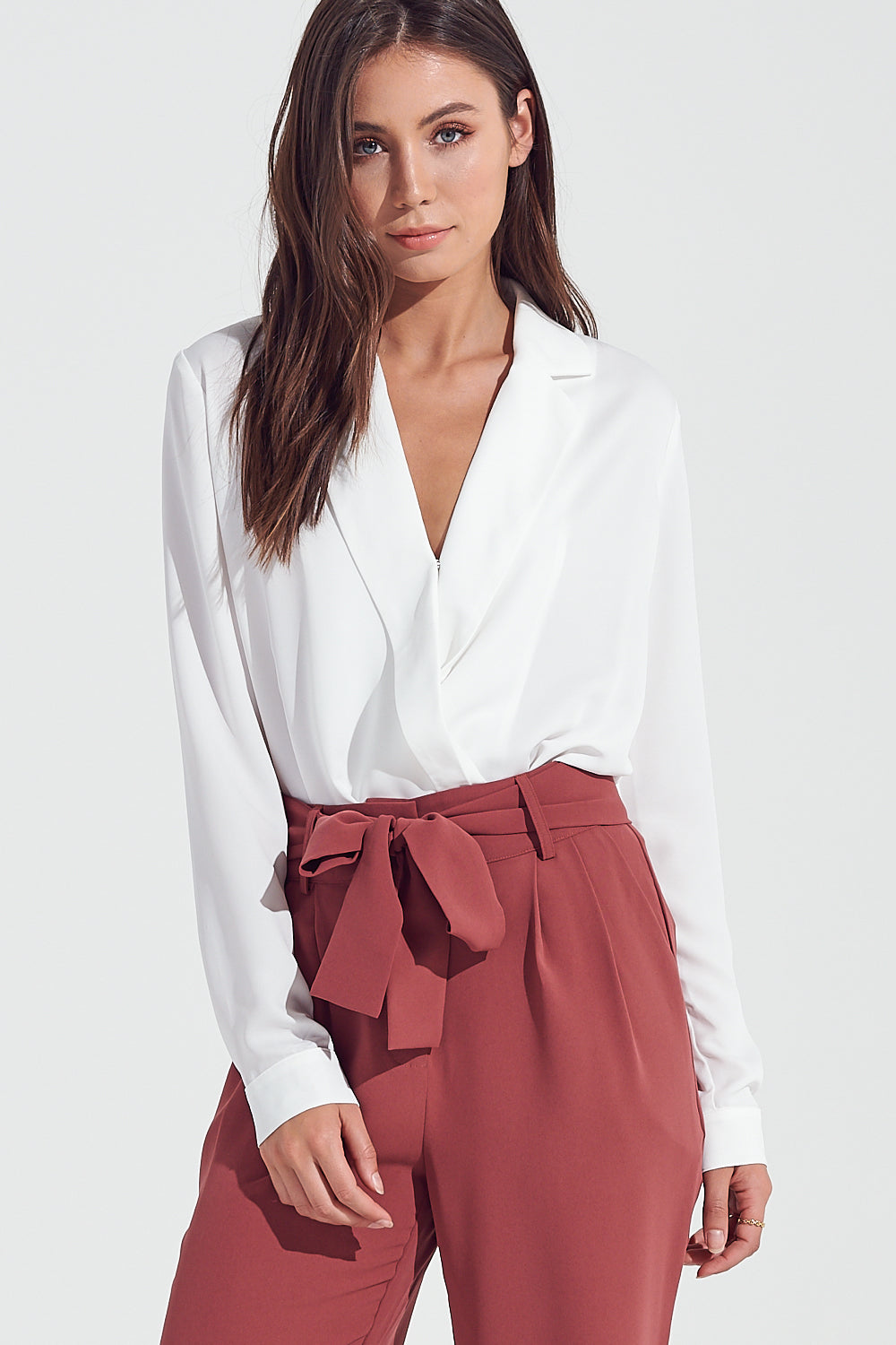 Top, Tank Top, Long Sleeve Top,Bodysuit, White Top, Blouse, Semi Formal Wear, Corporate, Cocktail Outfit, Blogger Style, Trendy, Fashionable Outfit
