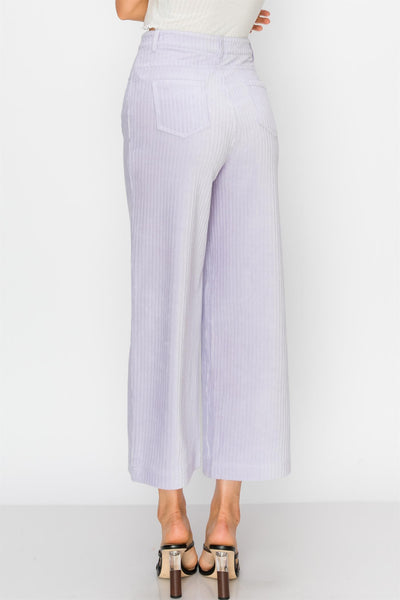 Pants, Capri Pants, High Waisted Pants, Lavender Pants, Purple Pants, Pastel Pants, Classic Pants, Vintage Style Pants, Casual Wear, Corduroy, Pants with Pockets