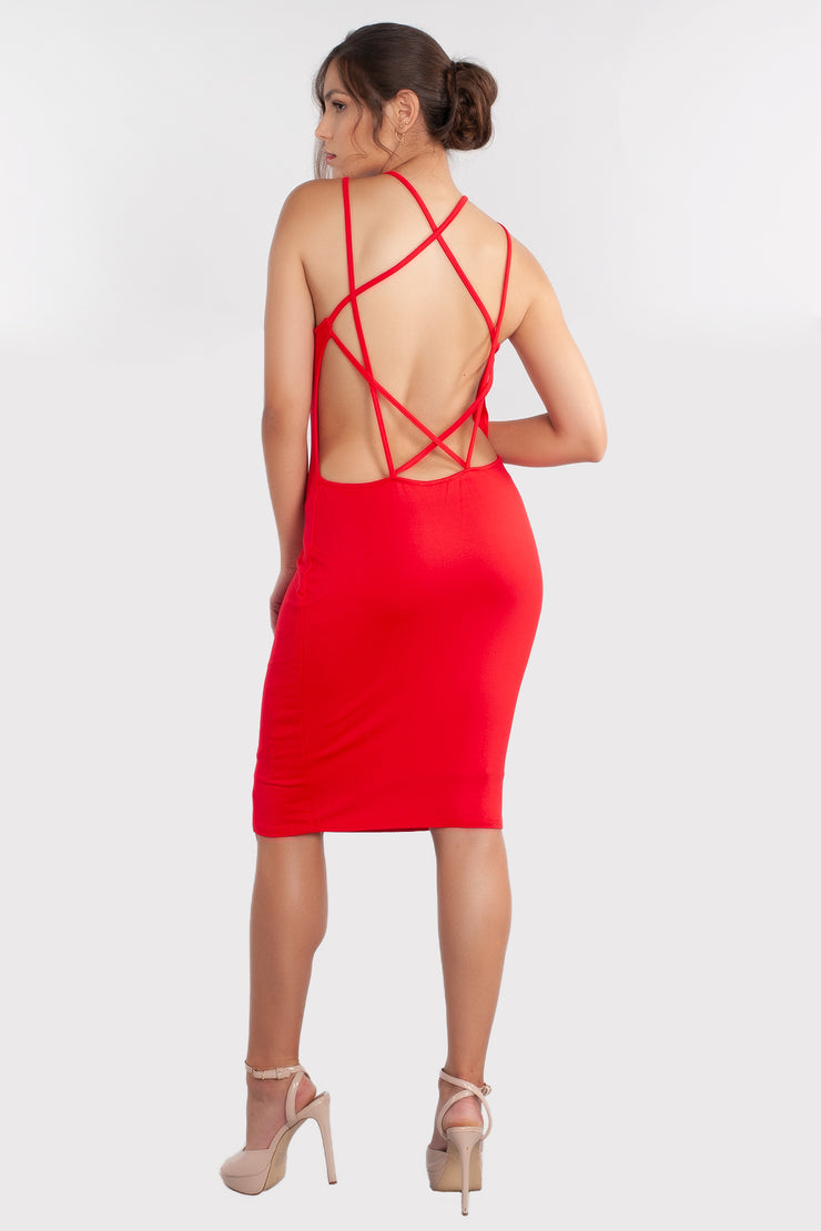 Cut Off Dress, Open Back Dress, Bodycon Dress, Fitted Dress, Mini Dress, Casual Dress, Cocktail Dress, Club Dress, Red Dress, Formal Dress, Party Dress