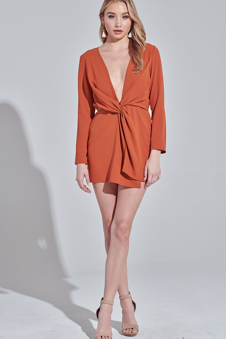 Long Sleeve Dress, Low Cut, Dressy, Dress, Side Slit, Party Dress, Wedding Outfit, Party Outfit, Sun Dress, Club Wear, Dinner Outfit, Casual, Beach Wear, Vacation Outfit, Mini Dress, Fashionable Dress