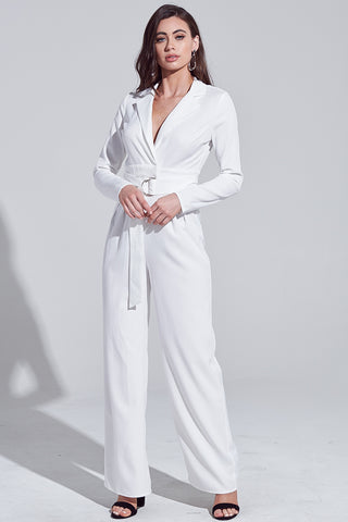 Jumpsuit, Fashion, Trendy Outfit, Blogger Outfit, Casual Wear, Fall Outfit, Winter Outfit, Fashion Style, Summer outfit, White Jumpsuit, Jumpsuit with Belt, Jumpsuit with Pockets