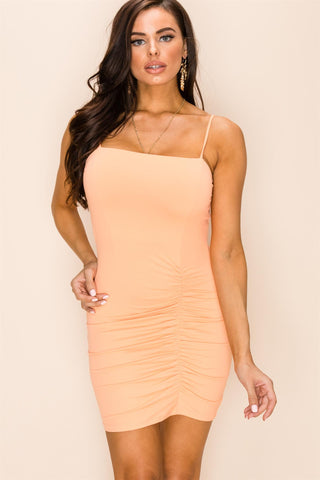 Be My Lover Ruched Side Bodycon Mini Dress