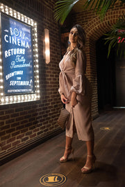 Movie Night | Taupe Midi Dress