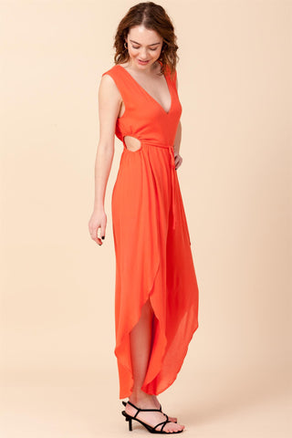Perfect Dream Sleeveless Jumpsuit in Orange
