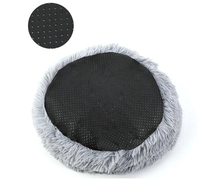 Long Plush Super  Kennel Round Bed