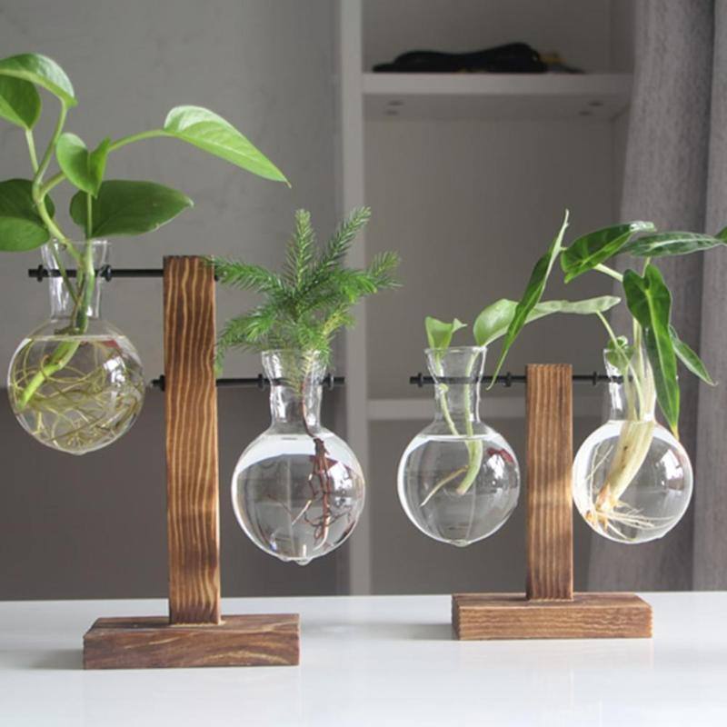 Modern wooden flower pot