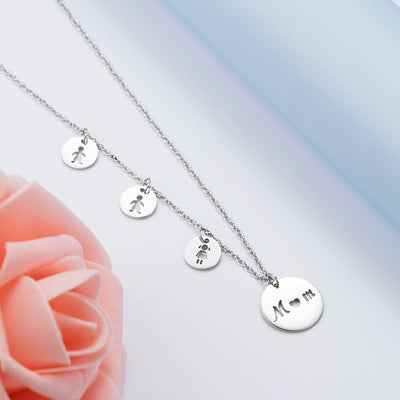 MOM Daughter Son Pendant Necklaces