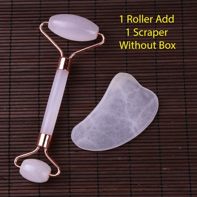 Natural Rose Quartz Massage Roller