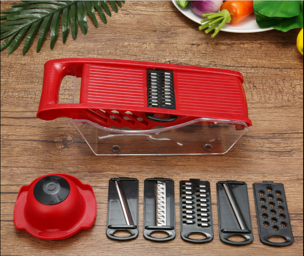 Multifunctional Mandoline Slicer Vegetable Cutter with 6 Stainless Steel Blade