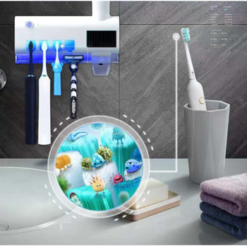 3 in 1 UV Toothbrush Sterilizer Holder Automatic Toothpaste Dispenser