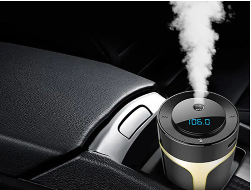 Car Air Purifier USB HEPA Air Cleaner Filter Car Aroma Humidifier Music Player