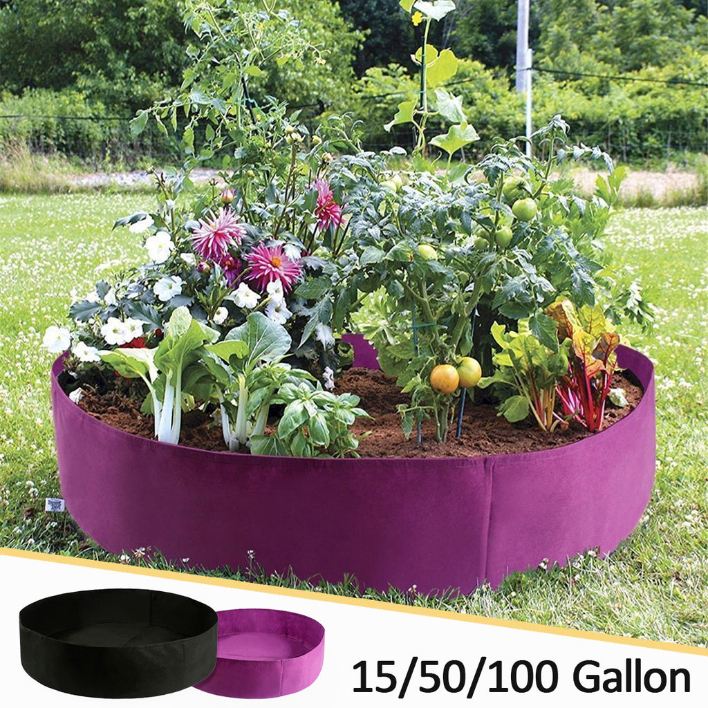 Fabric Plants Growing Raised Bed Garden Flower Elevated Vegetable Box Grow Bag