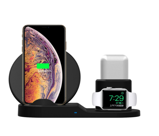 3 In 1 Qi Wireless Charger Charging Dock Stand for Smartphone, iPhone, Apple watch