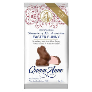 Load image into Gallery viewer, Milk Chocolate Single Serve Strawberry Marshmallow Bunny 45g