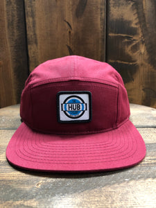 The Hub Cyclery 5 Panel Hat, Click for color options
