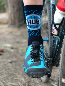 The Hub Cyclery Topographic Socks