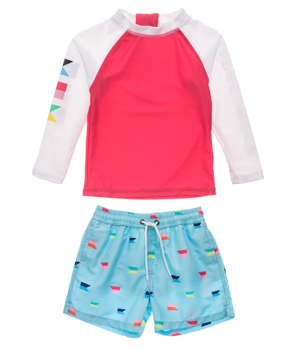 Snapper Rock Maritime Fliers Baby LS Set