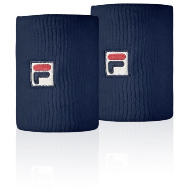 Fila Embroidered Logo Double-Wide Wristbands (FL269)