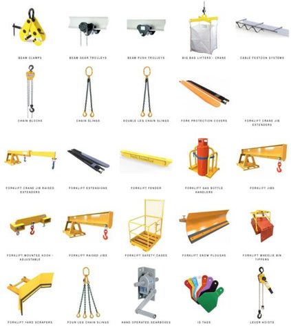 guide to  the types of lifting equipment in the uk