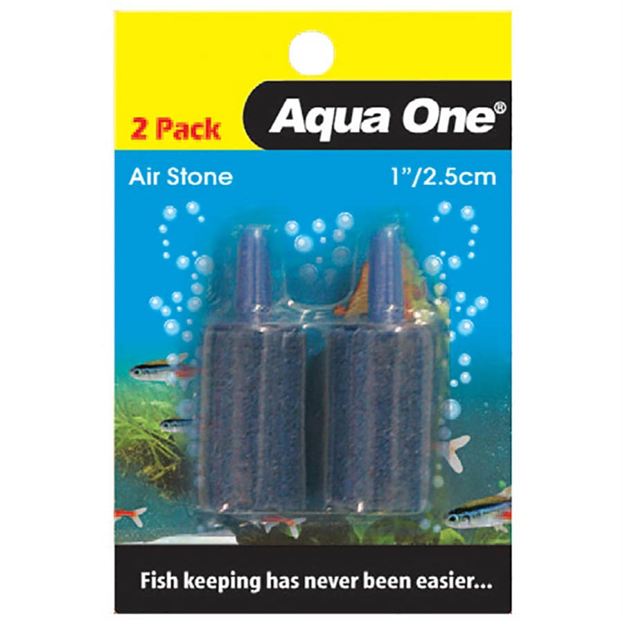 Aqua One 2.5cm Sand Air Stone - 2 Pack