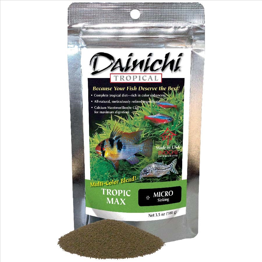 Dainichi Tropic Max 100g Sinking Micro .9mm Tropical Pellet Food