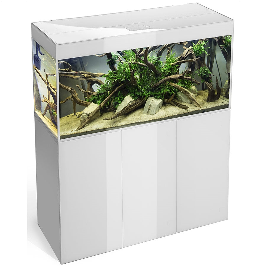 Aquael Glossy 100 with LED Lighting - White