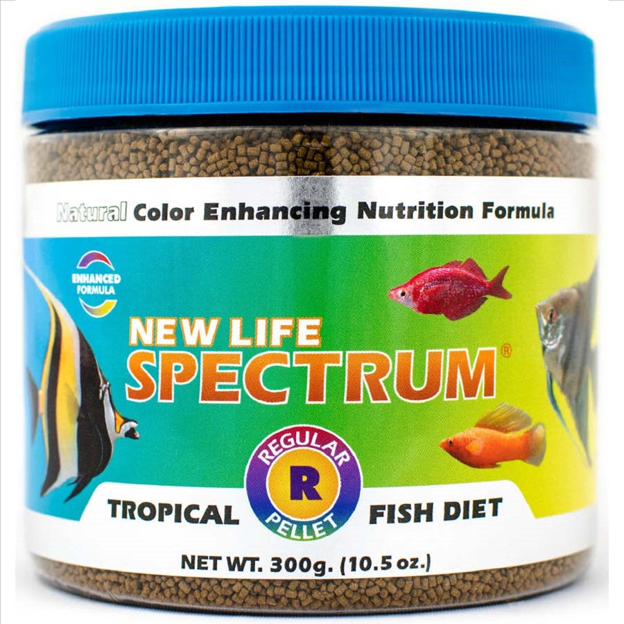 New Life Spectrum Regular Tropical Fish Diet 300g - Sinking Pellet 1-1.5mm