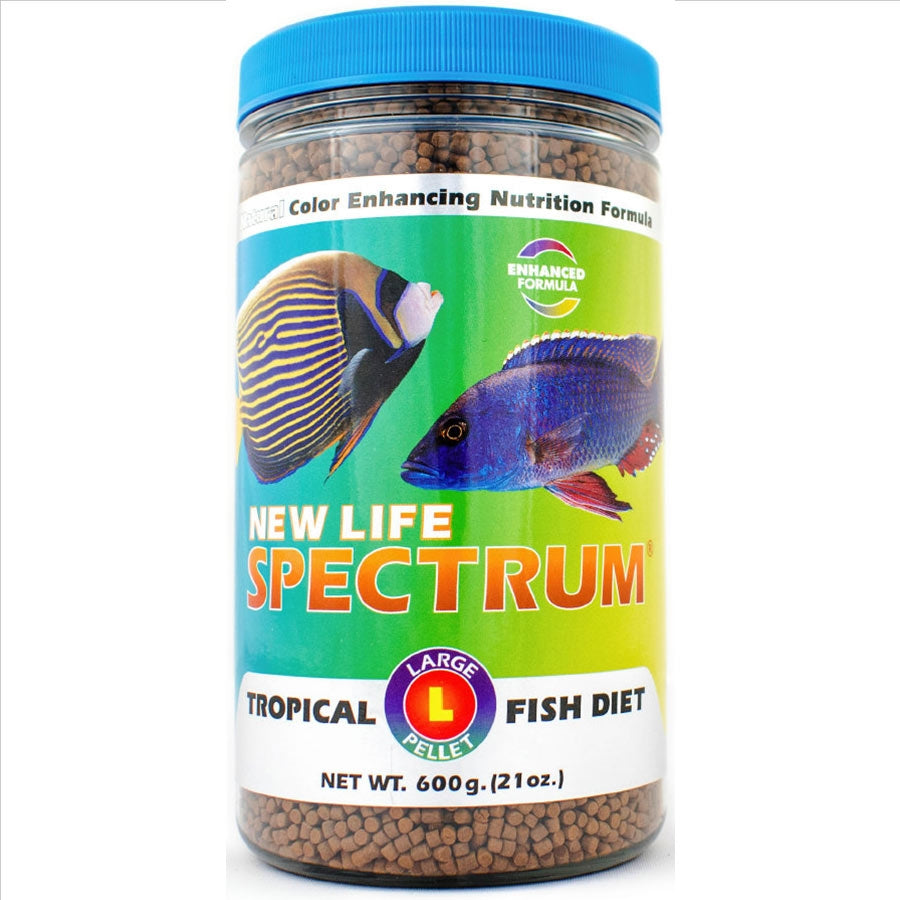 New Life Spectrum Large Tropical Fish Diet 600g - Sinking Pellet 3-3.5mm