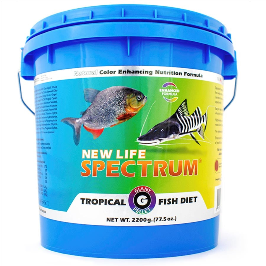New Life Spectrum Giant Tropical Fish Diet 2.2kg -Sinking Pellet 10-10.5mm