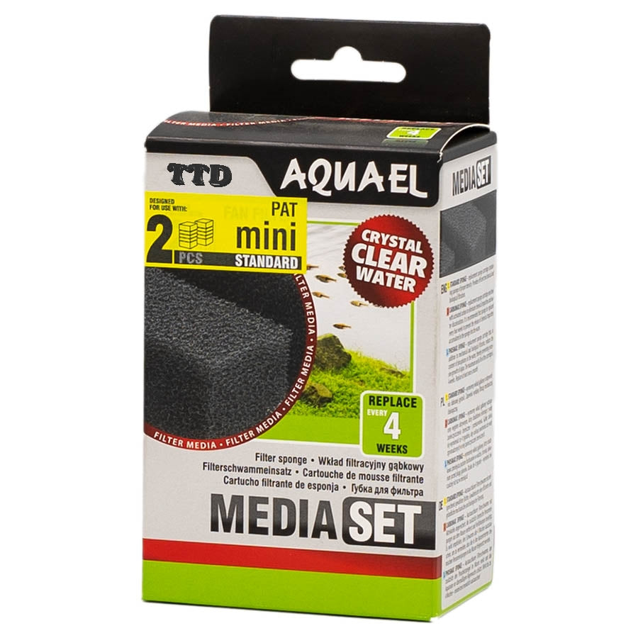 Aquael Replacement Sponge for Pat-Mini Filter Pack of two