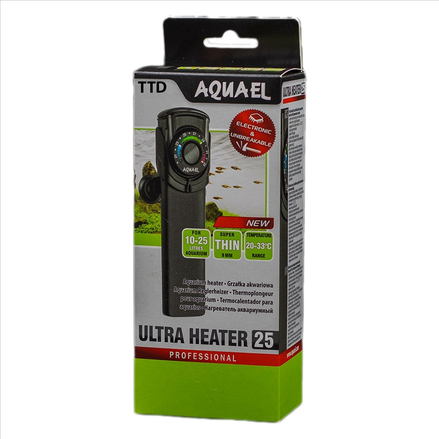 Aquael Professional Ultra Heater 25 Watt Electronic and Unbreakable
