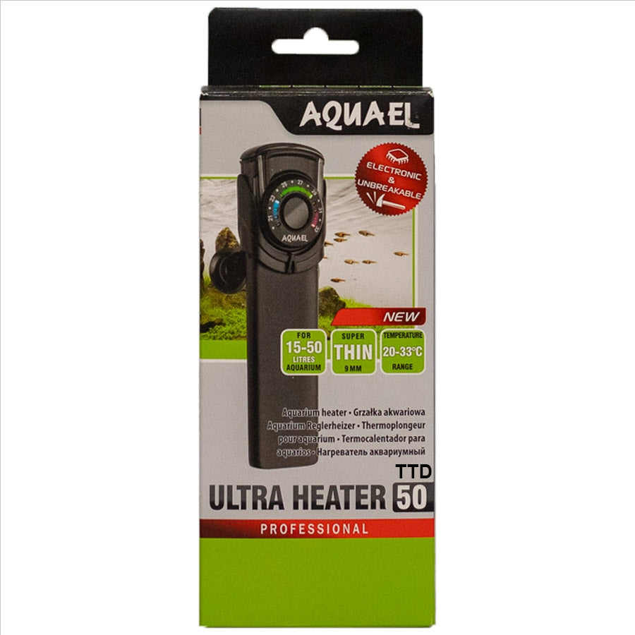 Aquael Professional Ultra Heater 50 Watt Electronic and Unbreakable