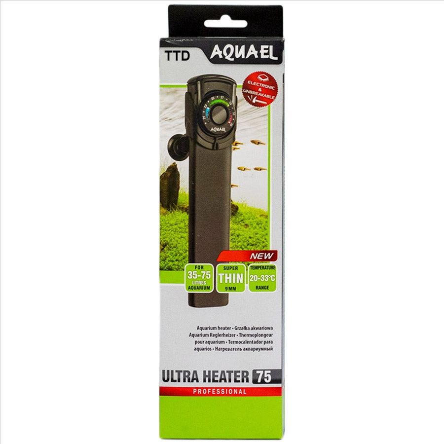 Aquael Professional Ultra Heater 75 Watt Electronic and Unbreakable