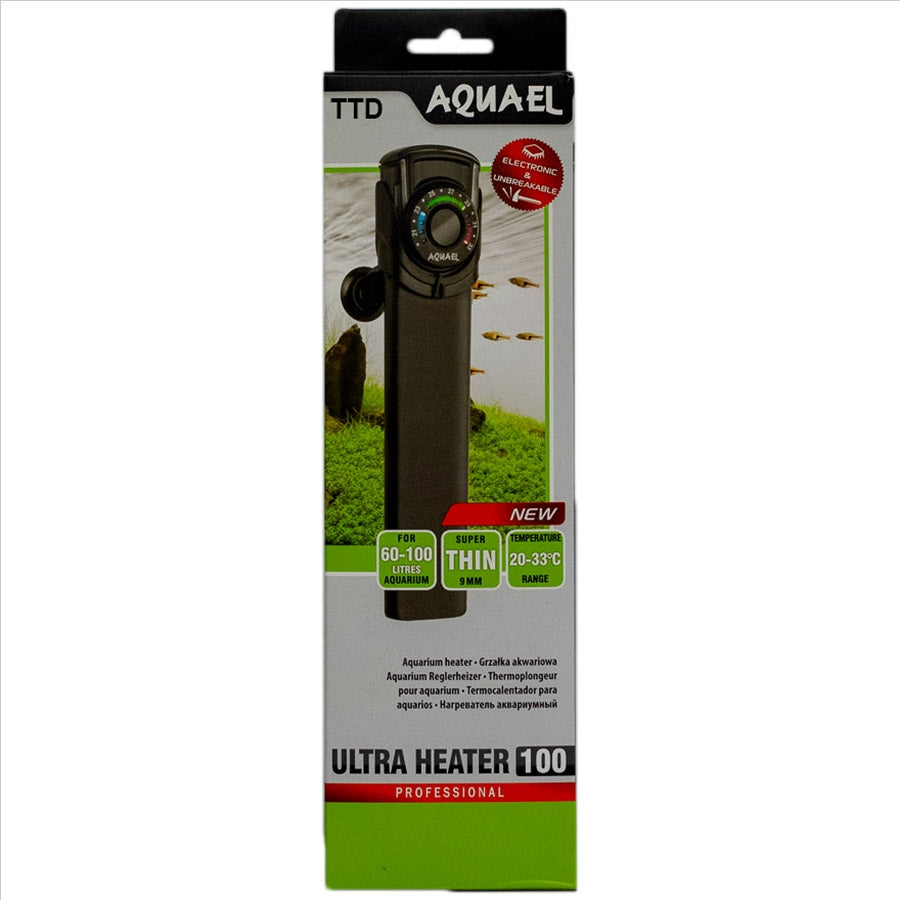 Aquael Professional Ultra Heater 100 Watt Electronic and Unbreakable