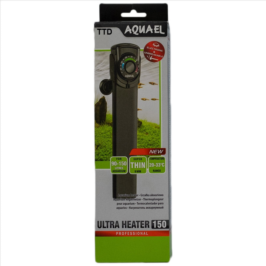 Aquael Professional Ultra Heater 150 Watt Electronic and Unbreakable