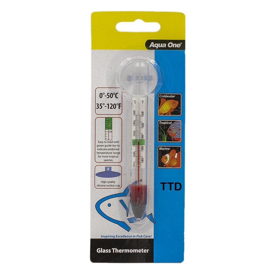 Aqua One Glass Thermometer with Suction Cup