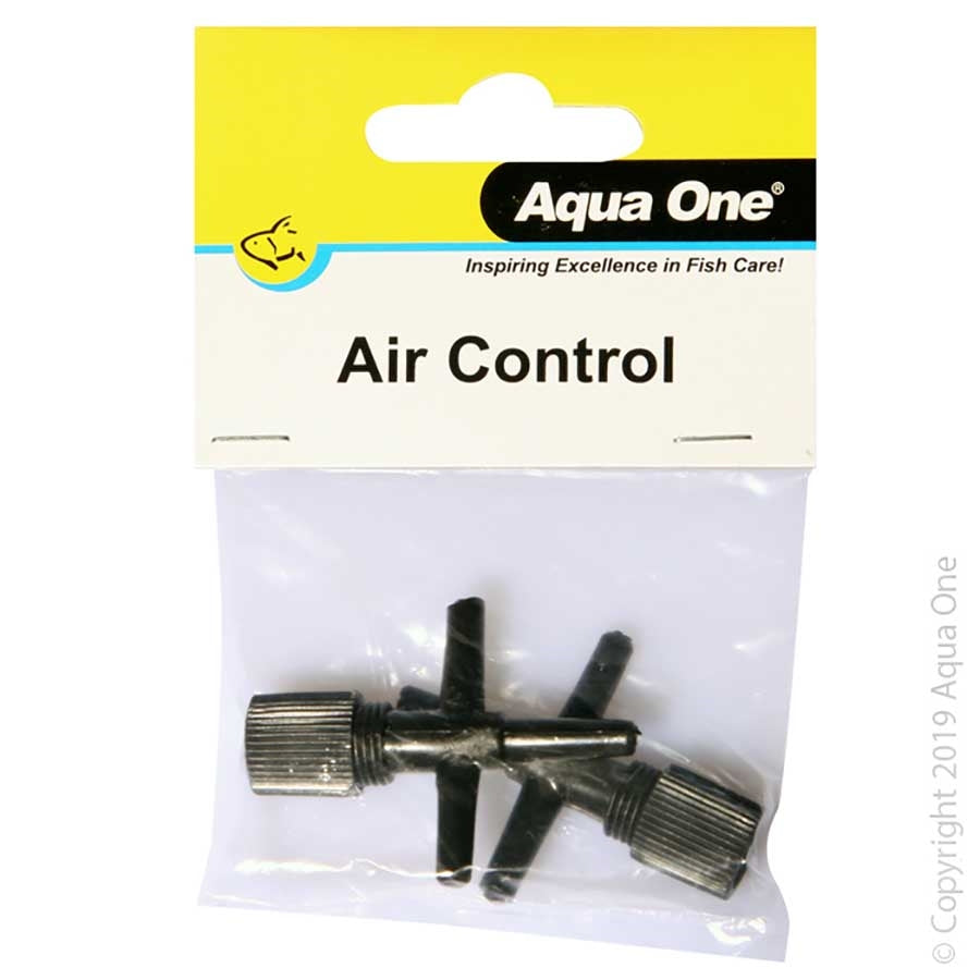 Aqua One Airline Air T Splitter Control Valve - Two Pack