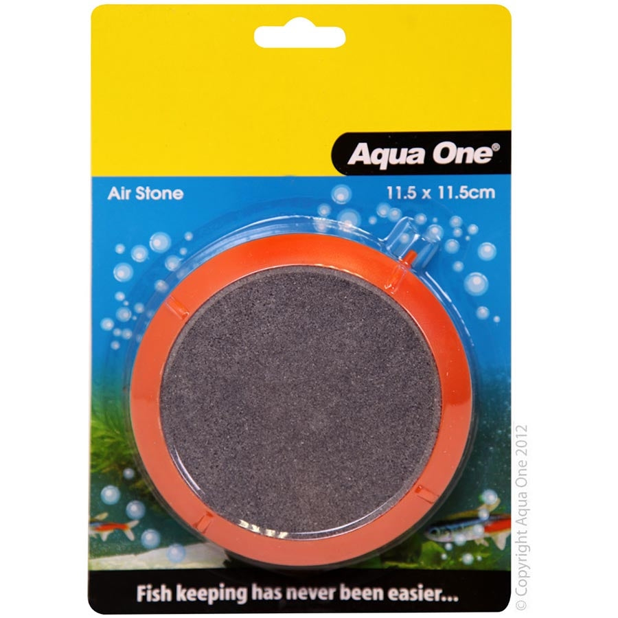 Aqua One 11.5cm Disc PVC Encased Air Stone - Sand