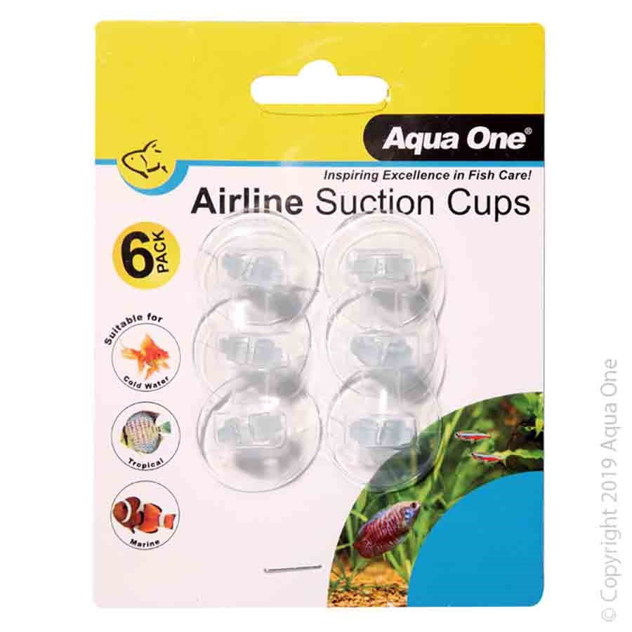 Aqua One Airline Suction Cups - 6 Pack