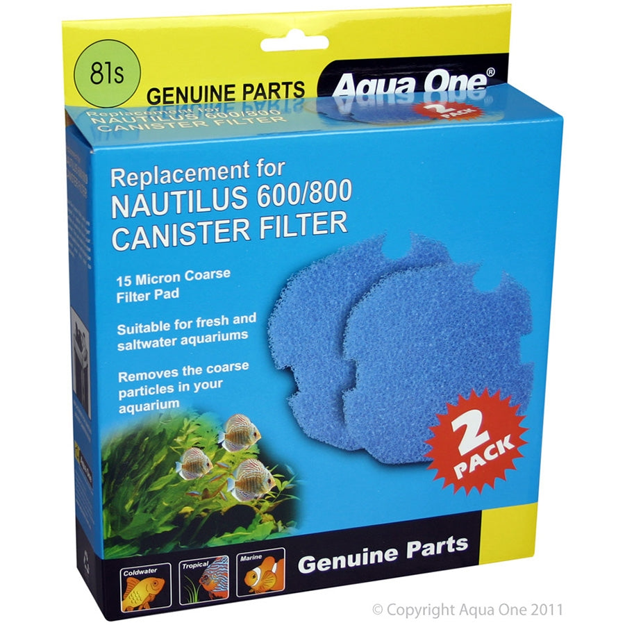 Aqua One 15ppi Sponge 2 pk 81S for Nautilus 600/800