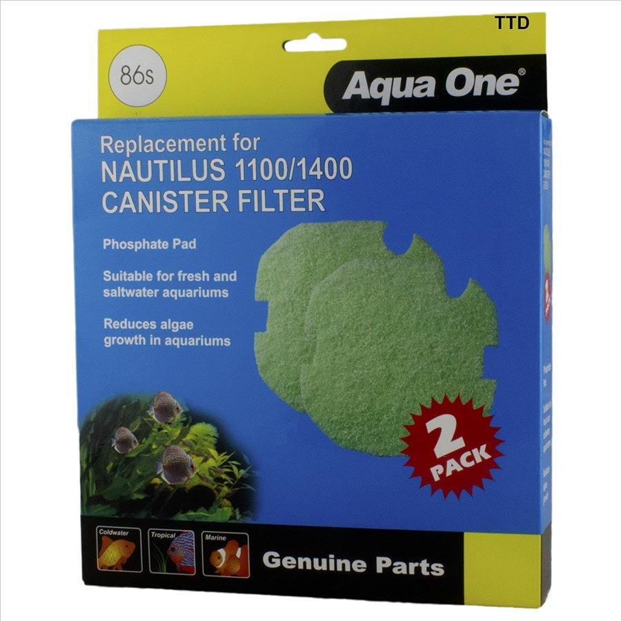 Aqua One Phosphate Sponge 2pk 86s for Nautilus 1100/1400
