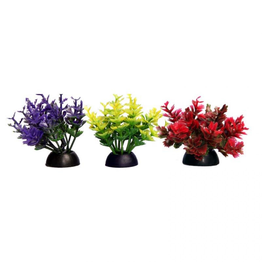 Aqua One Ecoscape Foreground Catspaw Yellow Pack of 4 - Artificial Plant